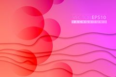 Elegant vector abstract background. Red and magenta colors abstract wave background. Backdrop in warm colors with light. Backdrop in warm colors with light and stock illustration