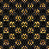 Elegant vector background. Black and gold Royalty Free Stock Images