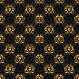 Elegant vector background. Black and gold vector illustration