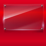 Elegant vector background with glass banner. Royalty Free Stock Photos