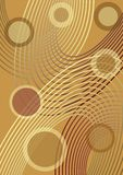 Elegant vector background tuned until golden, with outline ellipse and circles, transparency effect Stock Photo