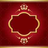 Elegant vector card with golden decor Stock Photos