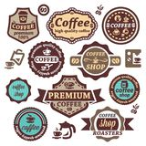 Coffee vector labels Stock Photos
