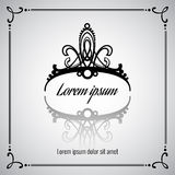 Elegant vector crown or tiara Royalty Free Stock Photo