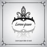Elegant vector crown or tiara Royalty Free Stock Photo
