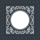 Elegant vector frame with classic ornament. Vintage background frame with floral ornament, decorative and stylish elements Stock Photos