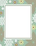 Elegant Vector Frame with decorative flowers. Abstract vector border with decorative elements: petal; leaf and flowers Stock Images