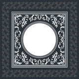 Elegant vector frame with vintage ornament. Vintage background frame with floral ornament, decorative and stylish elements Royalty Free Stock Images
