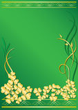 Elegant vector green frame. Vector elegant green frame with flora royalty free illustration