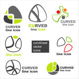 Elegant vector icons Stock Images