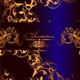 Elegant vector  invitation card Stock Photo