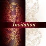 Elegant vector invitation card Royalty Free Stock Photos