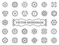 Elegant vector monogram collection Royalty Free Stock Image