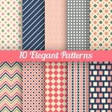 Elegant vector seamless patterns Royalty Free Stock Photo