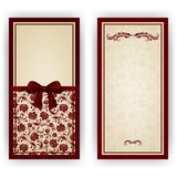 Elegant vector template for luxury invitation, royalty free stock image