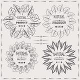 Elegant vector uitstekend hipster koel ontwerp van het kaders natuurlijke product Royalty-vrije Stock Afbeelding
