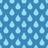 Elegant vector water drops seamless background Royalty Free Stock Photos