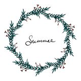 Summer time wreath royalty free illustration