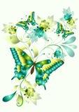 Elegant vectorontwerp met vlinders Royalty-vrije Stock Afbeelding