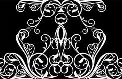 elegant vektor för 2 krullning Arkivfoto