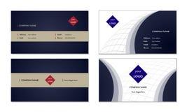 Elegant vektor för mall för affärskort Royaltyfria Bilder