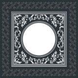 Elegant vektorram med tappningprydnaden Royaltyfria Bilder
