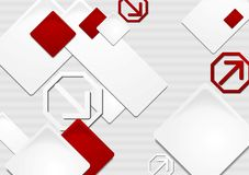 Elegant vektortechbakgrund Royaltyfria Bilder