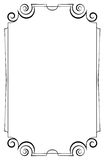 Elegant vertical frame on a white background Royalty Free Stock Images