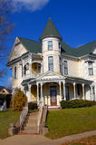 Elegant Victorian. Gorgeous Victorian home has round turret and three stories.  Home is located in Texarkana, Arkansas Stock Image