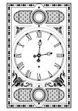 Elegant victorian clock Royalty Free Stock Photos