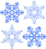 Elegant Victorian Snowflakes/ai Stock Photo