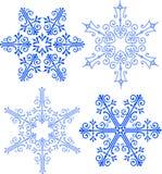 Elegant Victorian Snowflakes/ai. Illustration of four elegant victorian style snowflakes vector illustration