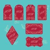 Elegant victorian swirl gift tag Royalty Free Stock Image