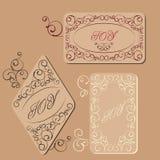 Elegant victorian swirl gift tag Stock Photo