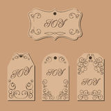 Elegant victorian swirl gift tag Royalty Free Stock Photo