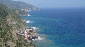 Elegant view of the Cinque Terre on the Italian coast stock photos
