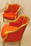 Elegant vintage armchairs Stock Images