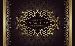 Elegant vintage background with a frame and border Stock Image
