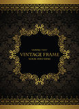 Elegant vintage background with a gold frame Stock Photos