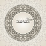 Elegant vintage background with lace ornament Royalty Free Stock Photos