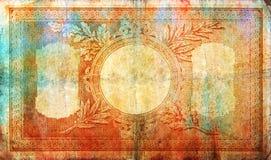 Elegant vintage banknote-style border frame Stock Images