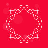 Elegant vintage border for monograms. Decorative badge for retro Royalty Free Stock Image