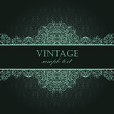 Elegant vintage card Royalty Free Stock Photography
