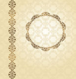 Elegant vintage card with seamless wallpaper Royalty Free Stock Photo
