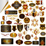 Elegant vintage designs set for luxury labels, logos, restaurant Stock Photography