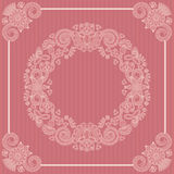 Elegant vintage floral frame Royalty Free Stock Photography