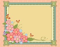Elegant vintage Fons flowers and place for your text Royalty Free Stock Photos