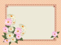 Elegant vintage Fons flowers and place for your text Stock Photos