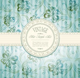 Elegant vintage invitation royalty free illustration