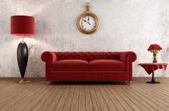 Elegant vintage livingroom Stock Photos